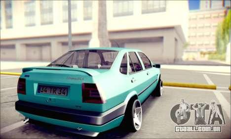Fiat Tempra TR para GTA San Andreas traseira esquerda vista