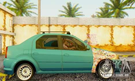 Dacia Logan 1.6 MPI Tuning para GTA San Andreas esquerda vista