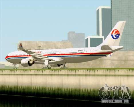 Airbus A330-300 China Eastern Airlines para GTA San Andreas vista traseira