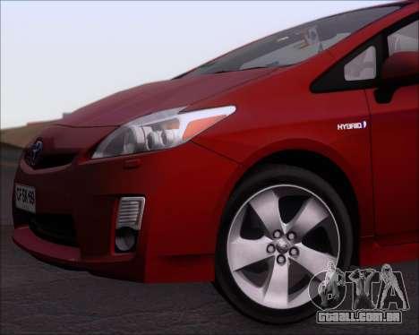 Toyota Prius para GTA San Andreas vista inferior