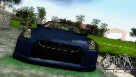 Nissan GT-R SpecV Black Revel para GTA Vice City deixou vista