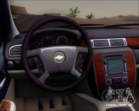 Chevrolet Silverado Gope para GTA San Andreas vista interior