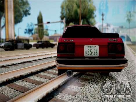 Nissan Skyline GT-R R30 para GTA San Andreas vista direita