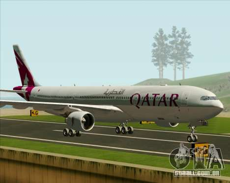 Airbus A330-300 Qatar Airways para GTA San Andreas esquerda vista