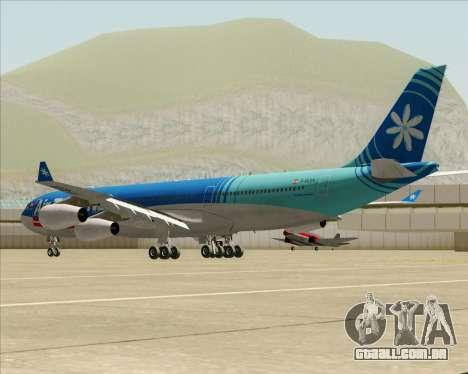 Airbus A340-313 Air Tahiti Nui para GTA San Andreas traseira esquerda vista