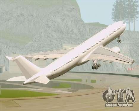 Airbus A330-300 Full White Livery para GTA San Andreas vista inferior