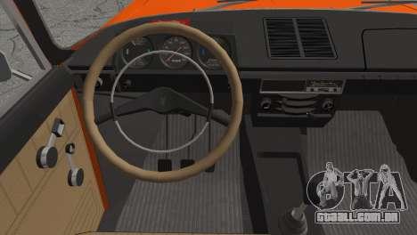 AZLK 412 v2 para GTA San Andreas traseira esquerda vista