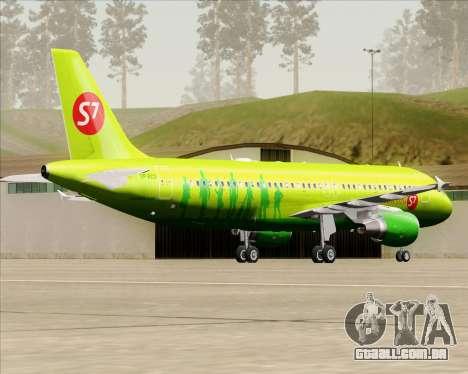Airbus A320-214 S7-Siberia Airlines para GTA San Andreas vista direita