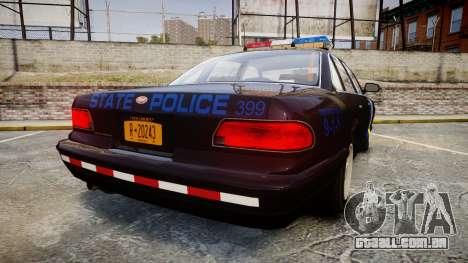 Vapid Police Cruiser LSPD Generation [ELS] para GTA 4 traseira esquerda vista