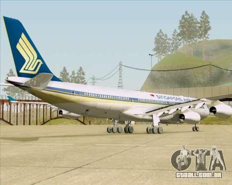 Airbus A340-313 Singapore Airlines para GTA San Andreas vista traseira