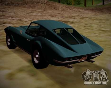 Coquette Classic GTA 5 DLC para GTA San Andreas esquerda vista