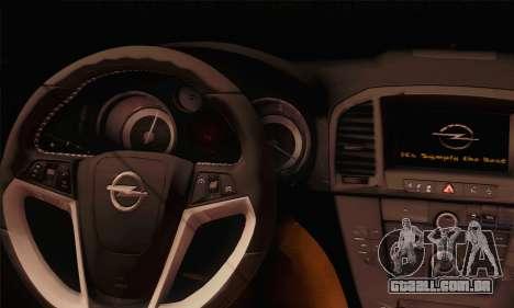 Opel Insignia OPC ATS Cup para GTA San Andreas traseira esquerda vista