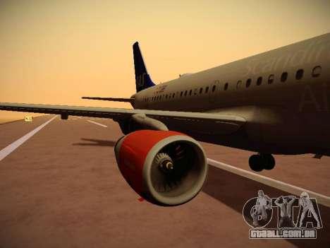 Airbus A319-132 Scandinavian Airlines para GTA San Andreas interior
