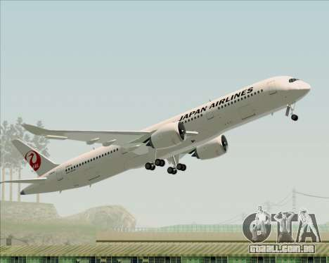 Airbus A350-941 Japan Airlines para GTA San Andreas vista inferior