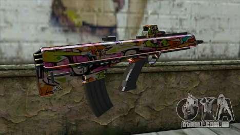 Graffiti Assault rifle para GTA San Andreas segunda tela