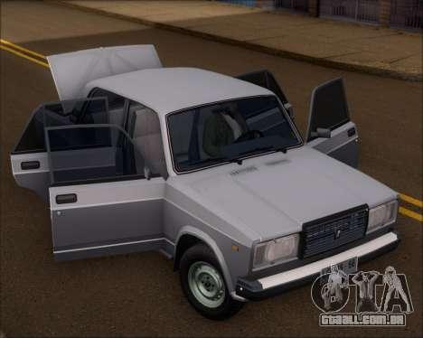 LADA 2107 para GTA San Andreas vista traseira