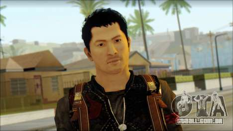 Wei Shen From Sleeping Dogs para GTA San Andreas terceira tela