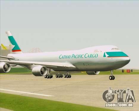 Boeing 747-8 Cargo Cathay Pacific Cargo para GTA San Andreas esquerda vista