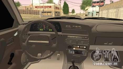 ВАЗ 2109 M1 Mixfight para GTA San Andreas traseira esquerda vista