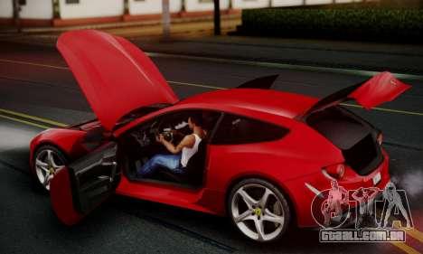 Ferrari FF 2012 para GTA San Andreas vista inferior
