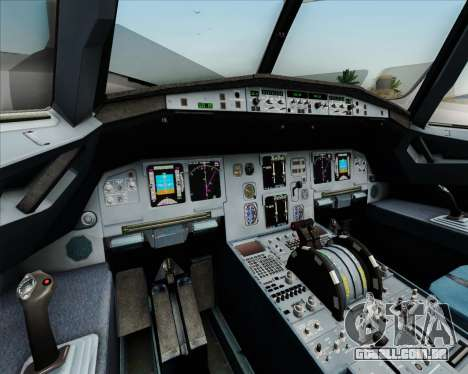 Airbus A320-211 Lufthansa para GTA San Andreas interior