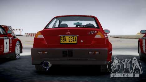 Mitsubishi Lancer Evolution VI Rally para GTA 4 esquerda vista