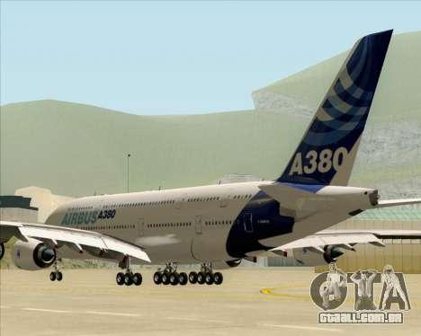 Airbus A380-861 para GTA San Andreas traseira esquerda vista