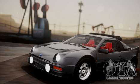 Ford RS200 Evolution 1985 para GTA San Andreas vista interior