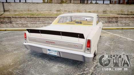 Chevrolet II Nova SS 1966 Custom [EPM] para GTA 4 traseira esquerda vista