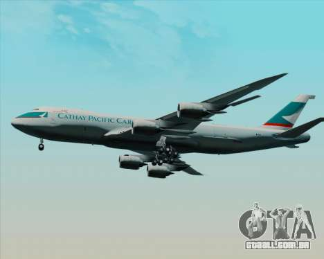 Boeing 747-8 Cargo Cathay Pacific Cargo para GTA San Andreas vista interior