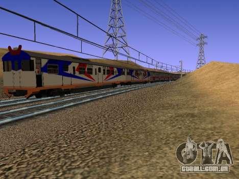 Indonésia trem de diesel MCW 302 para GTA San Andreas vista direita