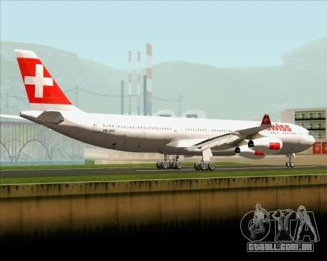 Airbus A340-313 Swiss International Airlines para GTA San Andreas traseira esquerda vista