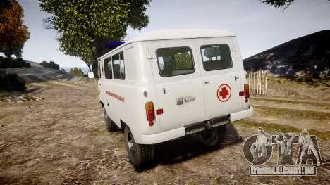 UAZ-39629 ambulância Hungria para GTA 4 traseira esquerda vista