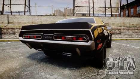 Dodge Challenger 1971 v2.2 PJ6 para GTA 4 traseira esquerda vista