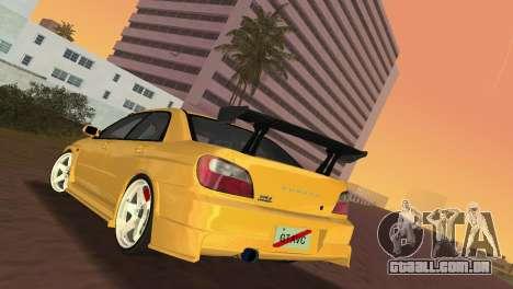 Subaru Impreza WRX 2002 Type 5 para GTA Vice City vista direita
