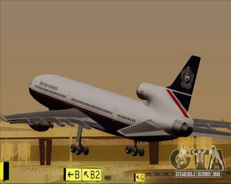 Lockheed L-1011 TriStar British Airways para GTA San Andreas interior