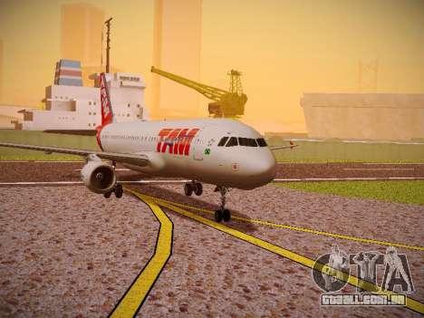 Airbus A320-214 TAM Airlines para GTA San Andreas esquerda vista