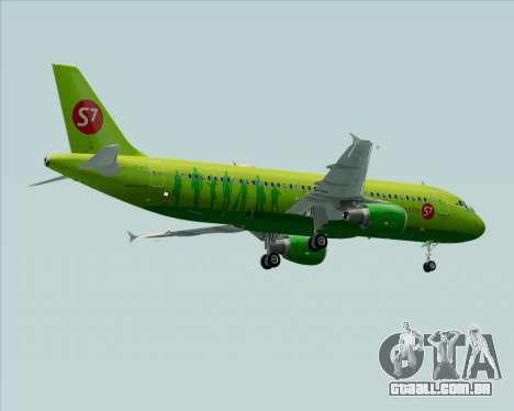 Airbus A320-214 S7-Siberia Airlines para as rodas de GTA San Andreas