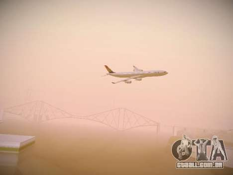 Airbus A340-300 South African Airways para GTA San Andreas vista superior