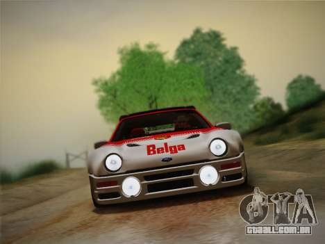 Ford RS200 Evolution 1985 para GTA San Andreas traseira esquerda vista