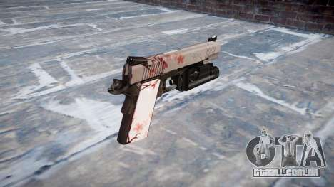 Arma Kimber 1911 flor de Cerejeira para GTA 4 segundo screenshot