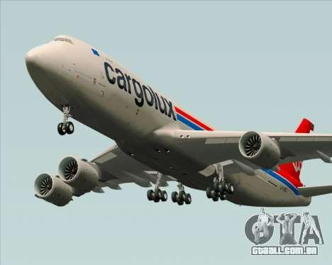 Boeing 747-8 Cargo Cargolux para GTA San Andreas vista interior
