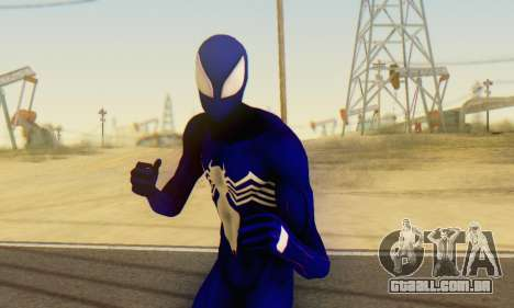 Skin The Amazing Spider Man 2 - Suit Symbiot para GTA San Andreas quinto tela