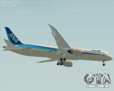 Boeing 787-9 All Nippon Airways para vista lateral GTA San Andreas