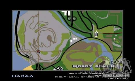 Pé grande (Bigfoot) no monte Chiliad para GTA San Andreas por diante tela