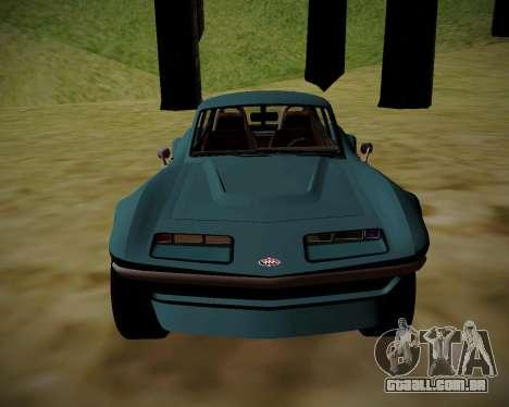 Coquette Classic GTA 5 DLC para GTA San Andreas traseira esquerda vista