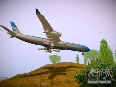 Airbus A340-300 Aerolineas Argentinas para vista lateral GTA San Andreas