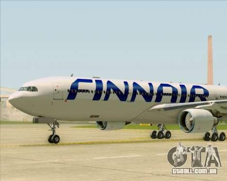 Airbus A330-300 Finnair (Current Livery) para GTA San Andreas vista inferior