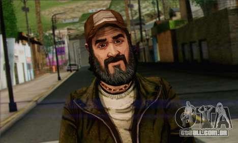 Kenny from The Walking Dead v2 para GTA San Andreas terceira tela