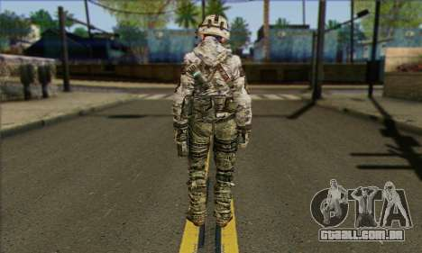 Task Force 141 (CoD: MW 2) Skin 2 para GTA San Andreas segunda tela